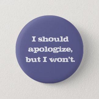 Bouton non désolé désolé badge