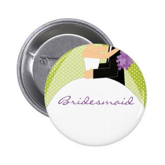 Bouton nuptiale de demoiselle d'honneur de partie/ badges avec agrafe