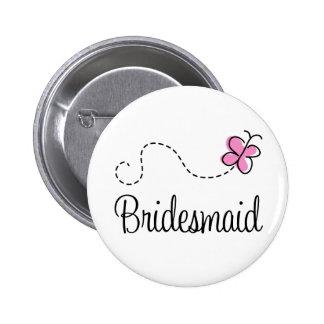 Bouton nuptiale de demoiselle d'honneur de partie badge rond 5 cm