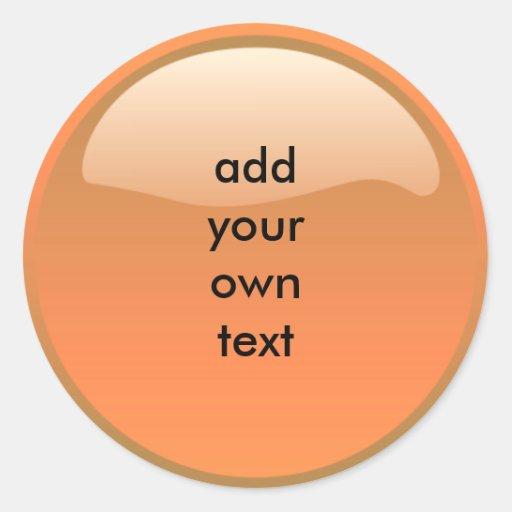 bouton orange autocollants