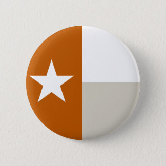 Bouton orange brûlé de drapeau du Texas Badge