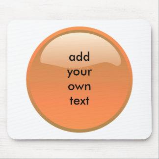 bouton orange tapis de souris
