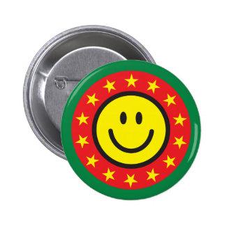 Bouton ou goupille souriant de pinback du bon trav badge rond 5 cm