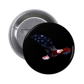 Bouton patriotique d'Eagle chauve Badges
