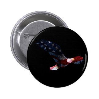Bouton patriotique d'Eagle chauve Badges