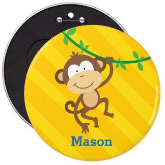 Bouton personnalisé par singe drôle badges