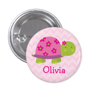 Bouton personnalisé par tortue mignonne pour des badges
