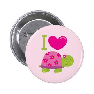 Bouton personnalisé par tortue mignonne pour des f badges
