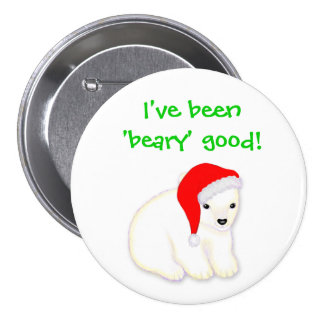 Bouton polaire de poire de bon Noël de Beary des e Badges Avec Agrafe