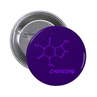 Bouton pourpre de molécule de caféine badge