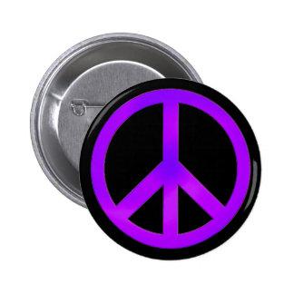 Bouton pourpre de symbole de paix badges avec agrafe