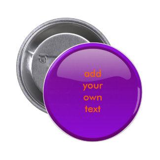 bouton pourpre foncé badge rond 5 cm