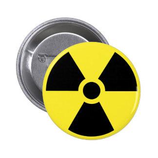 Bouton radioactif de symbole pin's
