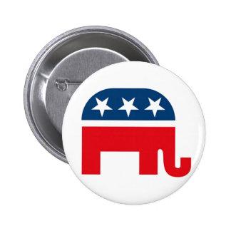 Bouton républicain de Pinback d'éléphant Badges