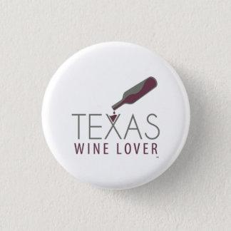 Bouton rond d'amateur de vin du Texas Pin's