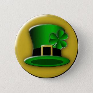 Bouton rond de casquette de Jour de la Saint Badges