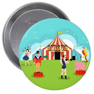 Bouton rond de cirque vintage badges