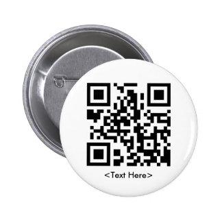 Bouton rond de code de QR Badges