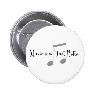 Bouton rond de duo (notes) badges