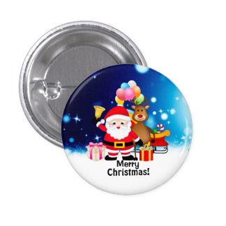 Bouton rond de Joyeux Noël Pin's