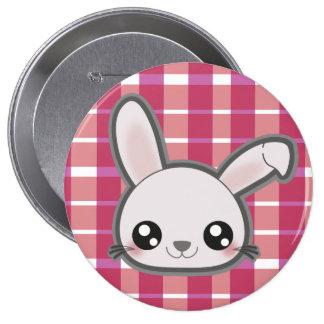 Bouton rond de lapin drôle de Kawaii Pin's