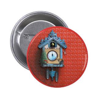 Bouton rond de pouce de ¼ de l'horloge de coucou badges