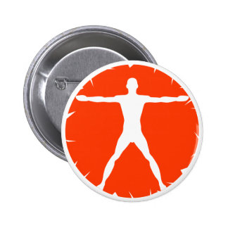 Bouton rond d'homme de Vitruvian de forme physique Badge Rond 5 Cm