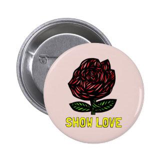 """Bouton rond """"montrez amour"""" badges"""