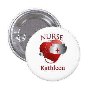 Bouton rond nommé de coeur de RN d'infirmière Badges