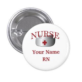 Bouton rond nommé de RN d'infirmière Badges