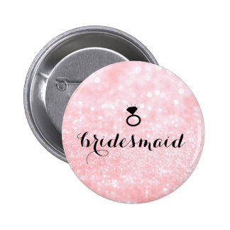 Bouton - rose de Bling d'anneau de scintillement Badge
