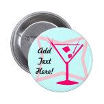 Bouton rose de Martini Pin's Avec Agrafe