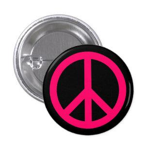 Bouton rose de symbole de paix pin's