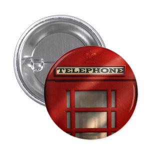 Bouton rouge britannique de cabine téléphonique badge rond 2,50 cm