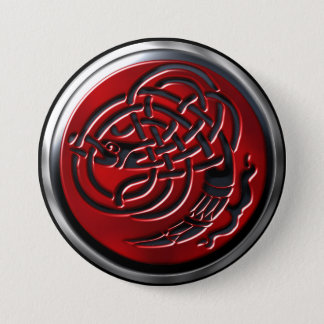 Bouton rouge de bouclier de Dragonknot Badge