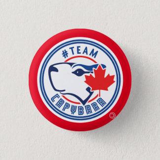 Bouton rouge de Capybara d'équipe (petit) Badges