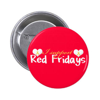 Bouton rouge de vendredi badge
