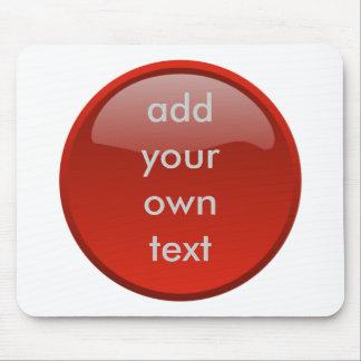 bouton rouge foncé tapis de souris