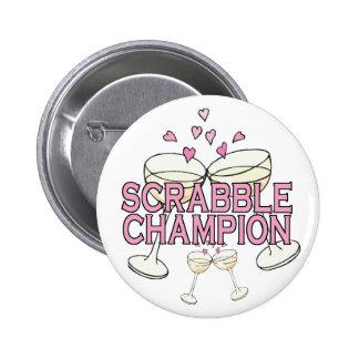 Bouton : ScrabbleChamp Pin's Avec Agrafe