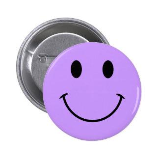 Bouton souriant mauve-clair de visage pin's