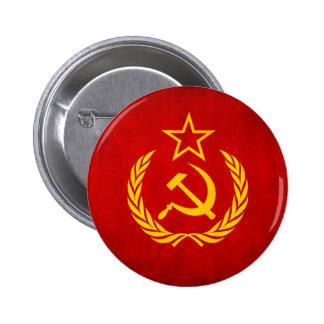 Bouton soviétique de drapeau badge avec épingle