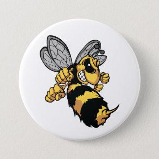Bouton très fâché d'abeille badges