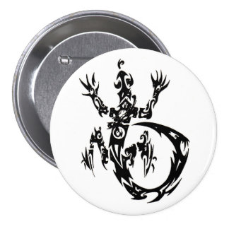 Bouton tribal de Gecko Badges