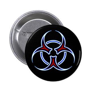 Bouton tribal de symbole de Biohazard Badge
