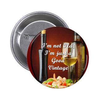 Bouton unique pour des amateurs de vin de baby badge