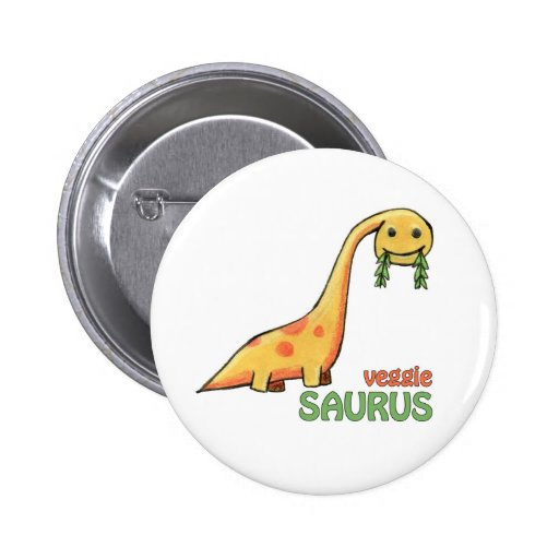 Bouton végétarien de Saurus Badge