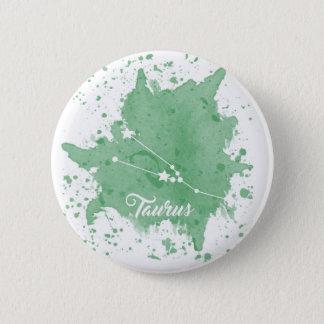Bouton vert de Taureau Badge