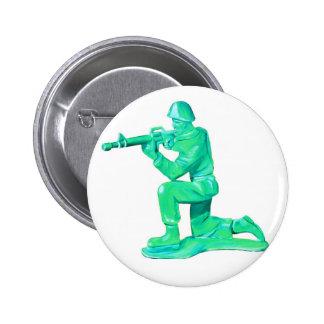 Bouton vert d'homme d'armée badge