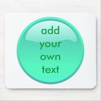 bouton vert en bon état tapis de souris