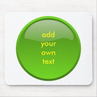 bouton vert-foncé tapis de souris